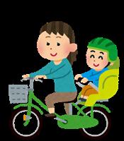 赤ちゃんと自転車